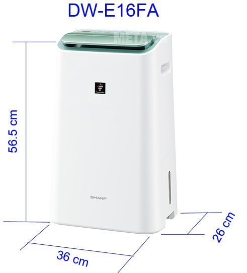 Máy hút ẩm lọc khí Sharp DW-E16FA-W