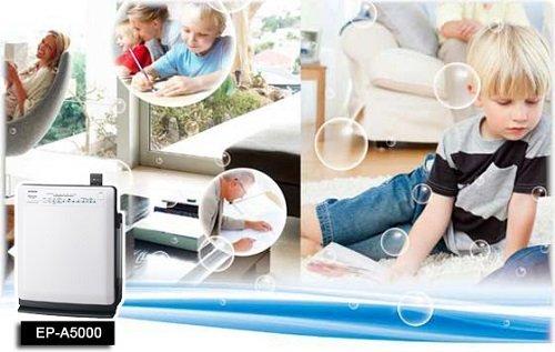 Lọc sạch không khí với máy lọc không khí tạo ẩm HItachi EP-A5000