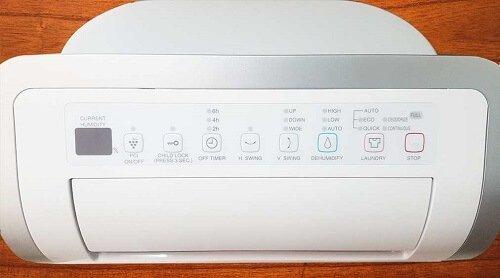 Bảng điều khiển máy lọc không khí-hút ẩm Sharp DW-D20A-W