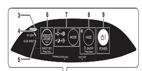 Bảng điều khiển máy lọc không khí Sharp FP-FM40E-B