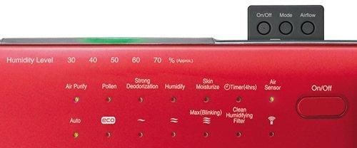 Bảng đèn báo nhận biết máy lọc không khí tạo ẩm Hitachi EP-A7000