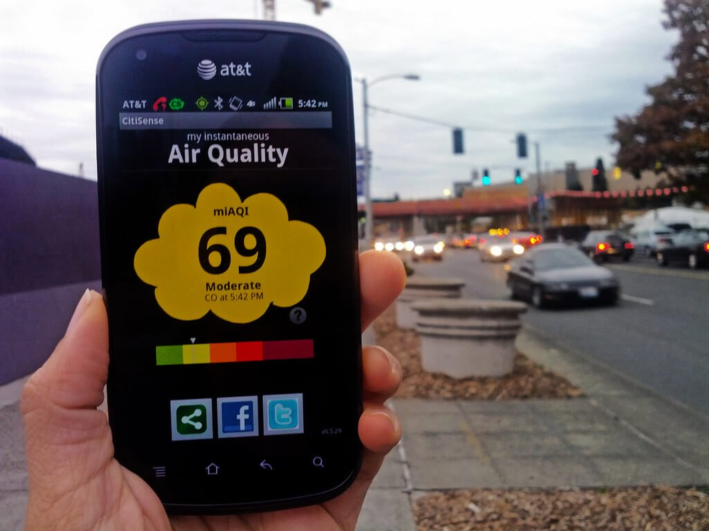 Cách đo chất lượng không khí bằng ứng dụng di động