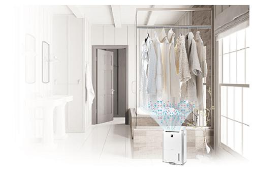 Công nghệ Plasmacluster của máy hút ẩm lọc khí Sharp DW-D20A-W