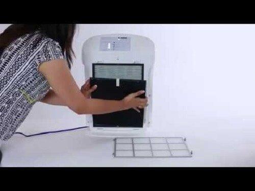 Lắp đặt màng lọc khử mùi Sharp DW-E16FA-W