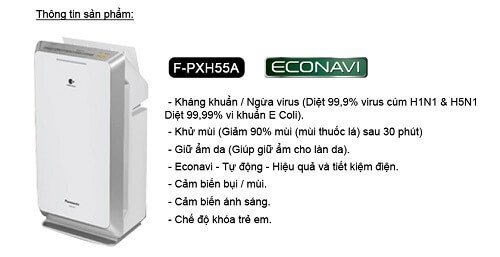 Công nghệ Econavi trên máy lọc không khí Panasonic F-PXH55A