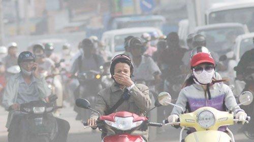 Ô nhiễm không khí do khói bụi giao thông