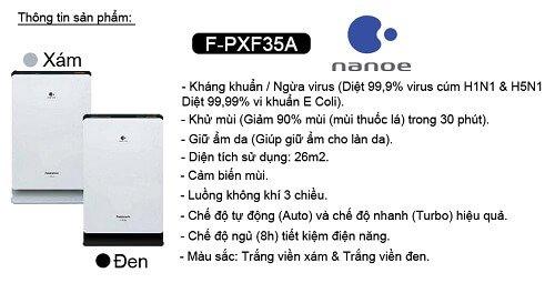 Tính năng nổi bật của máy lọc không khí Panasonic F-PXF35A