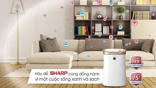 Khả năng hút ẩm của máy lọc không khí Sharp