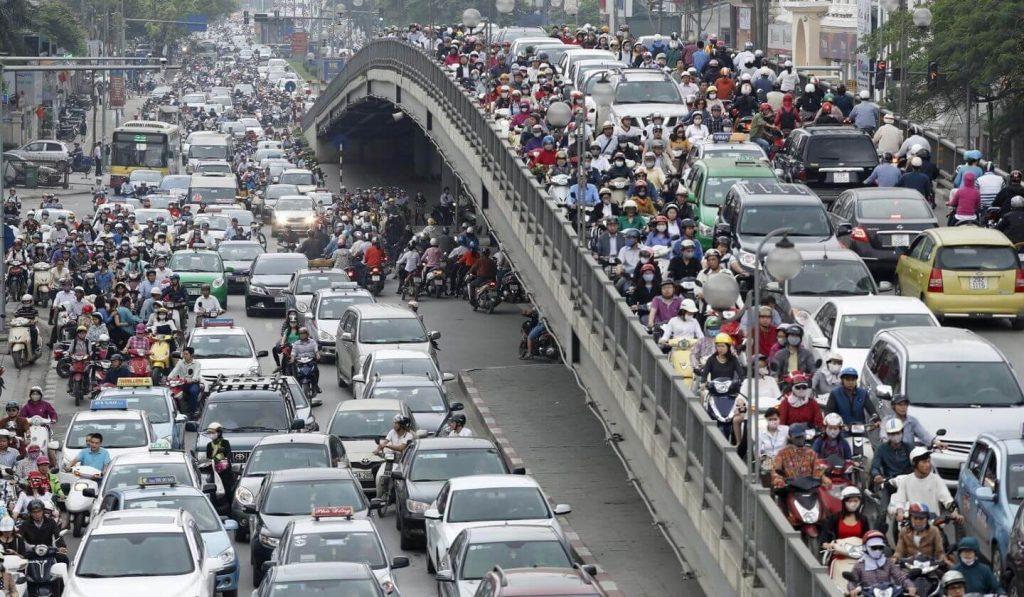 Mật độ giao thông tại Việt Nam